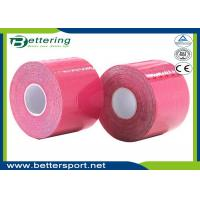 China Kinesiology Tape Kinesio Tape 5cm x 5m Waterproof Pure Cotton,Sports Safety Muscle Tape Pink Colour on sale