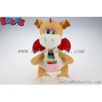 Buy cheap Lovely EN71 Approved Brown Plush Stuffed Dinosaur Toy With Scarf product