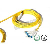 Buy cheap Custom Fiber Optic Y Cable Twisted Connectors 2.0 / 3.0 mm Yellow Jacket product