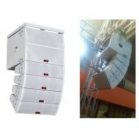 Buy cheap White Plywood Disco Sound Equipment  2 way Double Small Line Array Speaker product