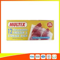 Buy cheap Supermarket Plastic Freezer Zip Lock Bags / Zip Seal Food Freezer Bags product