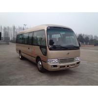 China Cummins Engine Coaster Minibus Luxury Passenger Travel Coach Buses Low Fuel Consumption on sale