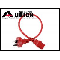 Buy cheap Red 6ft Three Prong Australia Power Cord With IEC 320 C13 Connector 10A 250V product