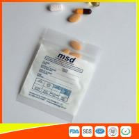 Buy cheap Clear Small Ziplock Bags For Pills , Disposable Air Tight Zip Lock Bags product