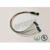Buy cheap 12 Core Fiber Optic Cable , LC / UPC MPO Patch Cord Single Mode 0.9mm Cable product