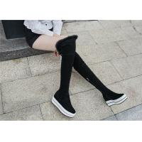 Buy cheap Womens Black Knee High Platform Boots , Tight Over The Knee Boots For Tall Ladies product