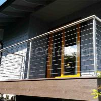 Buy cheap House Balcony Project 304 / 316 Stainless Steel Wire Cable Rail Outdoor Metal Stair Railing product
