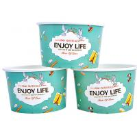 Buy cheap Colourful To Go Branded Ice Cream Cups Food Grade With 6- Colour Printing product