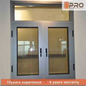 Buy cheap Color Optional Aluminium Flush Casement Windows With Security Wire Mesh double casement sash window aluminium window product