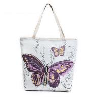 Buy cheap Butterfly Printed Shoulder Bags for Girls , Tote Shopper Bag product