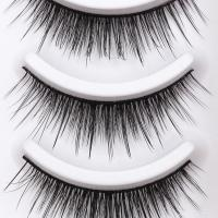 Buy cheap Wholesale private label silk strip eyelashes 3d faux mink free false eye lashes samples synthetic fiber lashes product