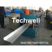 Buy cheap Hydraulic Plate Rolling 4KW Main Power Z Purlin Roll Forming Machine product