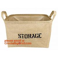 Buy cheap 100% jute storage basket,natural jute material collapsible decorative storage basket,Home handmade jute woven rope toy s product