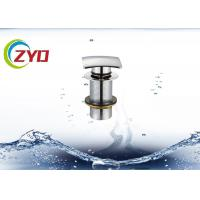 Buy cheap 68 X 68mm Square Pop Up Drain Pipe, Stainless Steel Pop Up Drain Without Overflow product