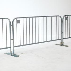 1.1m highx2.2m wide design, easy handle metal crowd control barrier