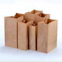 Buy cheap Disposable paper bag Kraft paper bags for bread hamburger packing bag product