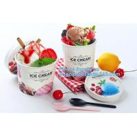 China Own Logo Disposable Paper Icecream Ice Cream Cup,Disposable Plastic Cold Drink Icecream Pearl Milk Tea Cup bagease pack on sale