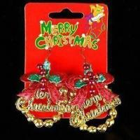 Buy cheap Earrings with Decoration, Available in Various Colors, Made of Chemical Fabric, Plastic and Metal product