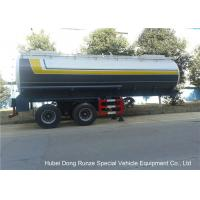 Quality Dual Axle 32 Ton Tank Semi Trailer Single Point Suspension For Hydrofluoric Acid / HCL for sale