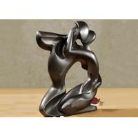Quality Abstract Bronze Statue Kissing Love Couple Thermal Coloring Coating for sale