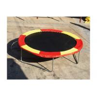 Buy cheap Fitness Single Person Trampoline 12 Mm Thickness PVC Fabric UV Resistant product