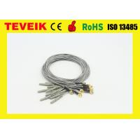 Buy cheap DIN1.5 socket 1m medical cable / Gold plated copper electrode cable product