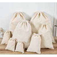 Buy cheap Soft Canvas Gift Packaging Pull String Bag With Custom Printed Logo product