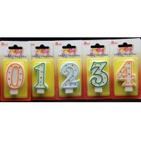 Best Selling Number Candle Unique Colorful Polka Dot Birthday With Multi Color Edge