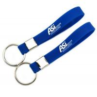 Buy cheap personalized custom logo wristband silicone keychains,rubber key chain,silicone keyring gift product