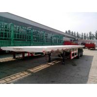 Buy cheap 40 ton semi truck flatbed trailer 12R22.5 tire 12500mm*2500mm*1550mm Dimensions from wholesalers