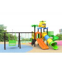 Buy cheap Small Plastic Outdoor Play Children Park Toys Green Color 10 Kids Capacity With Slide product