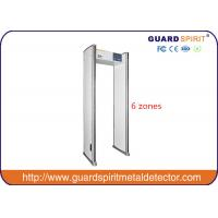 Quality Public security check Walk Through Metal Detector scanner 6 zone 1990mm X700mm X500mm for sale
