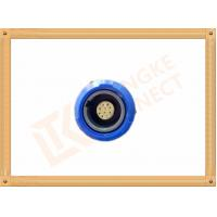 Buy cheap Blue Plastic Female Push Pull Circular Connectors / 10 Pin Circular Connector product