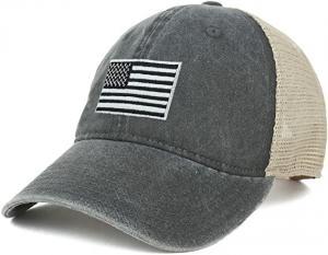 Buy cheap 62cm Unisex Retro 6 Panel Snapback Cap Camo Mesh Trucker Hat product