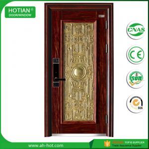Buy cheap Steel Security Door with Galvanized Metal Handle Popular for Apartment Entrance Door product
