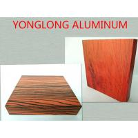 Buy cheap 6063 T5 Wood Finish Aluminium Profiles High Durability / Aluminum Extrusion Window Frame product