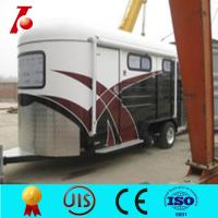 China Hot sale angle load horse trailer, two horse trailer for ex-factory price on sale