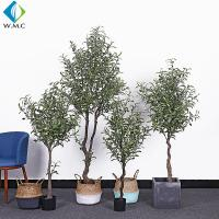 Buy cheap Indoor Faux Potted Olive Tree , Artificial Ivy Tree 1.2m - 1.8m Height product