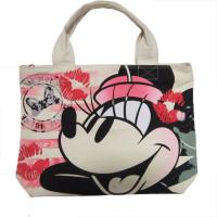 Buy cheap White Womens Nylon Tote Bags Silk Screen Print With Zipper Closure product