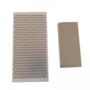 Buy cheap Industrial Application Cordierite Ceramic Burner Plate Infrared Ceramic Honeycomb product