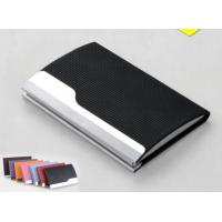 Buy cheap PU Leather Cover On Metal Frame Business Card Holder With Classic Design product