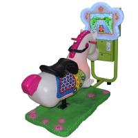 China High Profit Coin Operated Carousel Horse , 3d Coin Operated Rocking Horse With 17 Games on sale