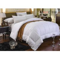 100% Cotton White Hotel Bedding Duvet Microfiber / Hollofiber / Down / Feather Filling