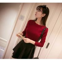 Korean new arriving Spring women's boat neck sweater thin sweater pullover sweater