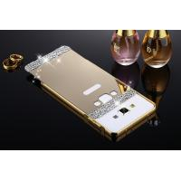Buy cheap Mirror Phone Cases For Samsung Galaxy A3/A5/A7/A8(2015)Luxury Bling Mirror PC Back Cover Metal Frame Bumper Hard Phone C product