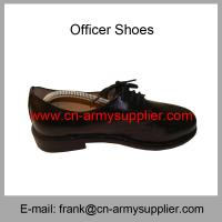 Wholesale Cheap China Black Leather Sole Full Grain Leather Police Officer Shoes