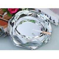 Buy cheap Clear Crystal Decoration Crafts / Ashtray With Cigar Holders Custom Size Accpeted product