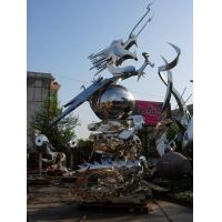 Buy cheap modern metal dragon stainless steel animal sculpture product
