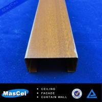 Quality High Quality Aluminum Wooden Grain Baffle Ceiling/Wooden Metal Ceiling Decoration/Wooded B for sale