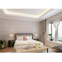 Buy cheap Bedroom PVC Country Style Wallpaper with Symmetrical Floral Pattern product